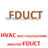 HVAC DUCT CALCULATIONS ANALYSIS-FDUCT